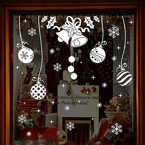 Kingko/® New Christmas Snowflake Lamp Pattern Window Stickers for Bedroom Living Room Wall