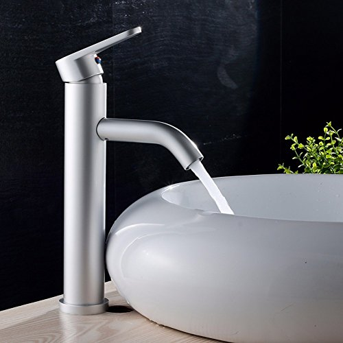 AWXJX Aluminum bathroom WC hot and cold basin Single Hole Sink mixer by AWXJX Sink faucet (Image #1)