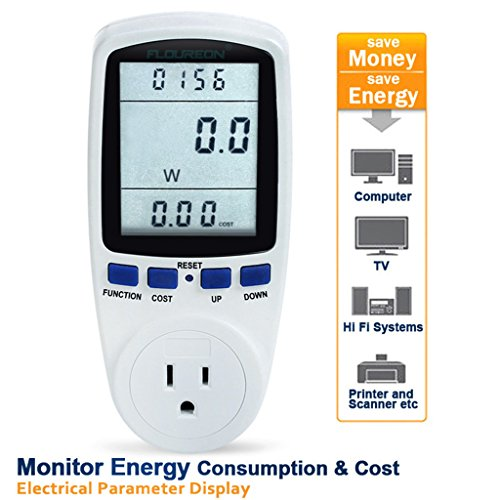 Electrical Power Meter : Ts a plug power meter energy voltage amps electricity