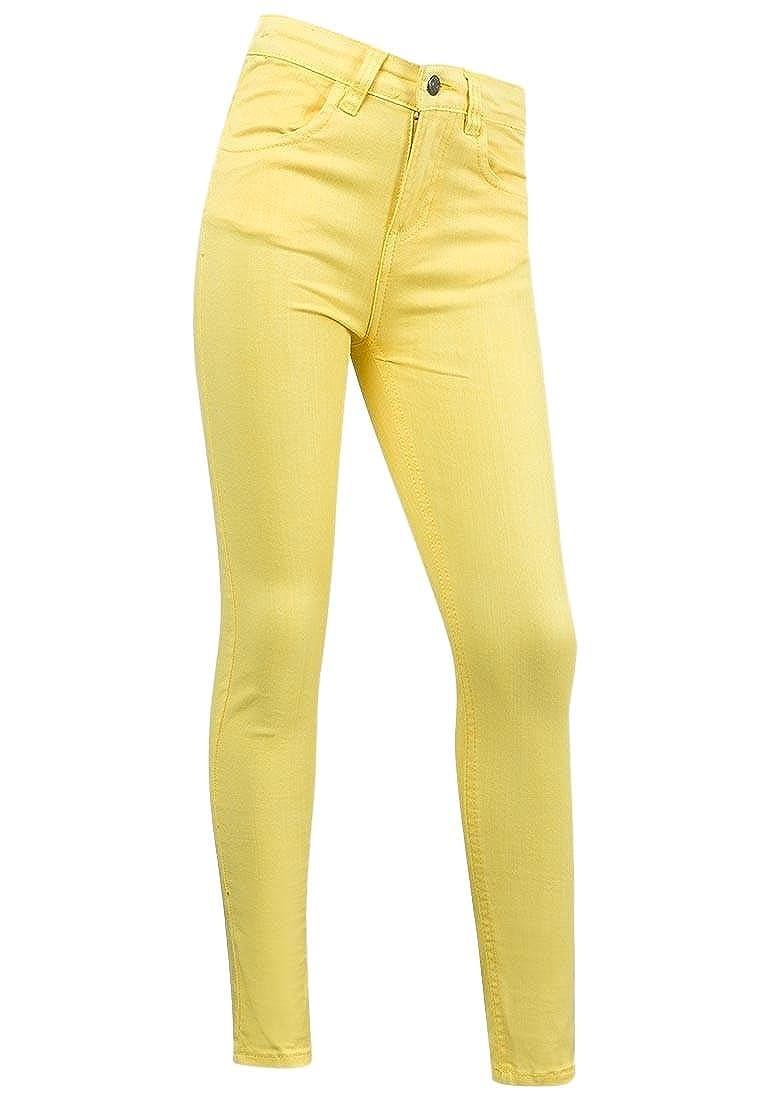 Minoti Jeans da bambina in cotone giallo slim fit