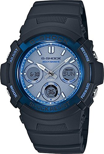 Casio G-Shock Blue Dial Resin Solar Quartz Men's Watch AWGM100SF-2A