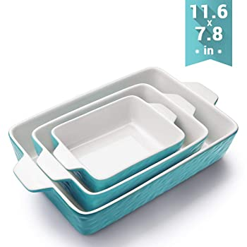 Krokori Bakeware Set Rectangular Ceramic Glaze Lasagna Pan