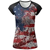 Travel & World USA Flag Woman Summer Fashion T Shirts 3D Printed Tee Top Gift Medium