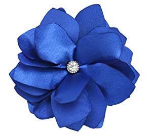 NEW Royal Blue Flower Hair Clip and Brooch
