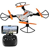 ASGO TK111W Foldable RC Drone 2.4GHz 6 Axis Gyro WiFi Remote Control Quadcopter with Camera