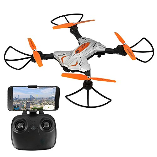 ASGO TK111W Foldable RC Drone 2.4GHz 6 Axis Gyro WiFi Remote Control Quadcopter with Camera from ASGO