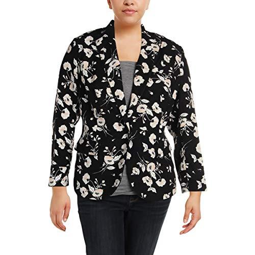 (Lauren Ralph Lauren Womens Plus Oniondra Going Out One-Button Blazer Black 16W)