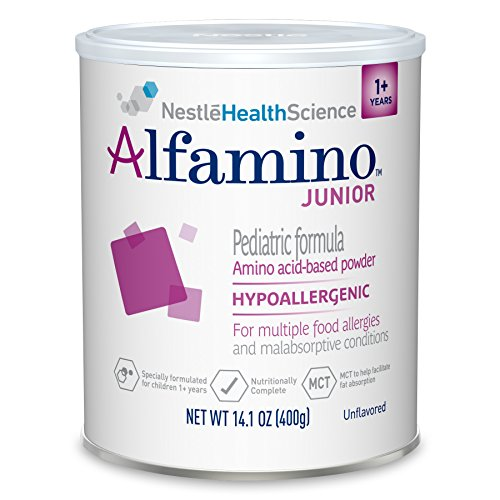 Alfamino Junior Amino Acid Based Pediatric Formula, Unflavored, 14.1 oz Canister