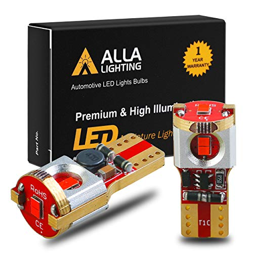 Alla Lighting Newest 194 LED Bulbs Super Bright T10 175 168 2825 W5W ZES SMD 12V LED Bulbs for Car License Plate Tag Interior Map Dome Trunk Courtesy Lights, Pure Red (Mazda Cx 5 Vs Cx 7 Dimensions)