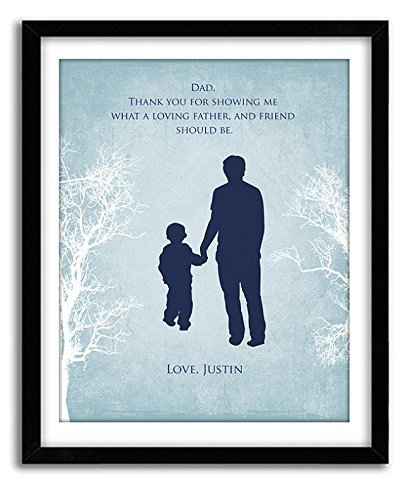 Gift For Dad Birthday From Son Custom Print Art