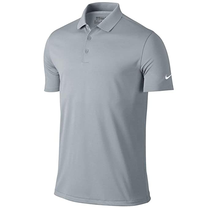 Nike Golf Victory Solid Polo (Wolf Grey/White) (Small): Amazon.es ...