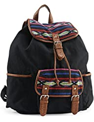 Aeropostale Womens Southwest Accent Backpack Black