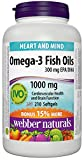 Webber Naturals Omega-3 Salmon and Fish Oil Softgel, 300mg
