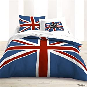 deco chambre couette et linge de maison londres et drapeau anglais deco lon. Black Bedroom Furniture Sets. Home Design Ideas