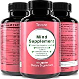 Memory Booster - Focus Enhancer - Mind Supplement with Pure and Natural Green Tea Leaf + DMAE Bitartrate + Glutamic Acid + Bacopa Extract - Mind Matrix Cognitive Nutrition Pills Nootropic By Tevare