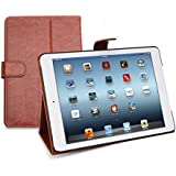iPad Leather Case & Folio, Sleeve & Cover, Quality Bag To Protect Your Tablet In Business or Home, For iPad With Retina Display, Includes FREE Polishing Cloth, Backed by a 2-Year Warranty - Light Brown