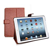 iPad mini Leather Case & Folio, Sleeve & Cover, Quality Bag To Protect Your Tablet In Business or Home, Includes FREE Polishing Cloth, Backed by a 2-Year Warranty - Light Brown