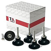 5 Pack of 3 inch Conditioning Disc Pad Holder Assembly by TruBuilt 1 Automotive - 1/4'' Shank - Speed-Lok TR Quick-Change attachment - Compatible with 3M ROLOC Scotch-Brite Brand Discs