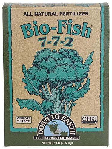 - Down to Earth Organic Bio-Fish Fertilizer Mix 7-7-2, 5 lb