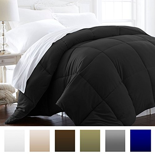 Beckham Hotel Collection 1600 Series - Lightweight - Luxury Goose Down Alternative Comforter - Hotel Quality Comforter and Hypoallergenic - King/Cal King - Black