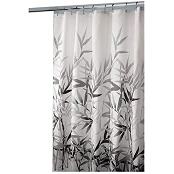 Amazon.com: InterDesign 36527 Anzu Fabric Shower Curtain - Standard ...