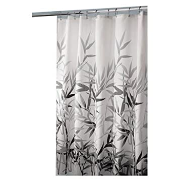 InterDesign Anzu Fabric Shower Curtain 72quot Inches X Black Gray