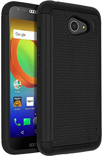 Alcatel A30 Case,Alcatel A30 Phone Case,ANLI(TM)[Shock Absorption] Drop Protection Hybrid Dual Layer Armor Protective Case Cover for Alcatel A30 (5.0 inch 2017 Released) Black