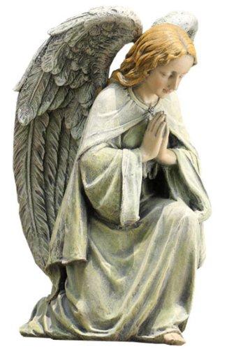 Napco Kneeling Angel Garden Statue, 11-3/4-Inch Tall - Kneeling Garden Statue