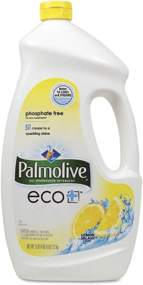 Palmolive 42706CT Automatic Dishwashing Gel, Lemon, 75oz Bottle, 6/Carton