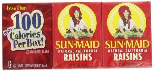 Sun Maid California Raisins, 6-Count, 1-Ounce Cartons