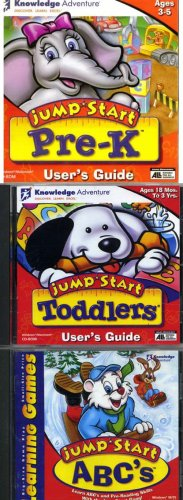 jump start toddlers set 3cd-rom : Jump Start Toddlers, Jump Start Pre-K, Jump-Start ABC's Ages 3-5 ()