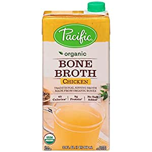 Pacific Foods Organic Bone Broth, Chicken, 32-Ounce Cartons, 12-Pack