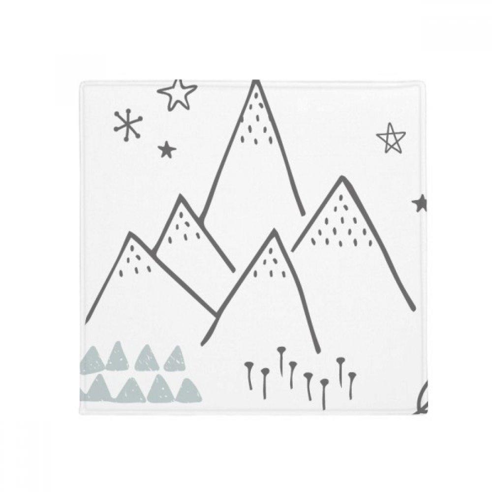 DIYthinker Leaves Mountain Grass Star Pattern Anti-Slip Floor Pet Mat Square Home Kitchen Door 80Cm Gift