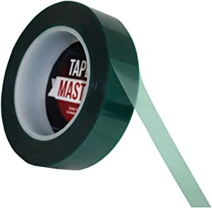 "1"" X 72 Yds - Tapes Master 2 Mil Green Powder Coating Masking Tape - High Temperature"