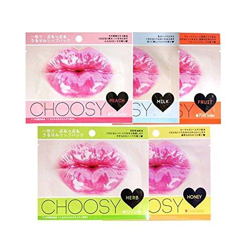 Pure Smile Choosy Lip Gel Mask X 5pcs Peach, Herb, Honey, Milk, Fruit ()