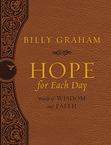 Leather Mens Billy - Hope for Each Day Large Deluxe: Words of Wisdom and Faith