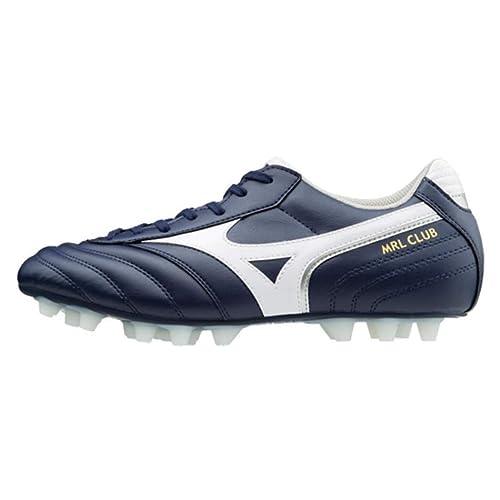 Bota de fútbol Mizuno MRL Club 24 Peacoat-White-Silver  Amazon.es  Zapatos  y complementos 9a4cd6e669e02