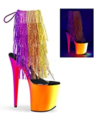 Pleaser Womens Rainbow 1017RSF-8 Synthetic Ankle Boots