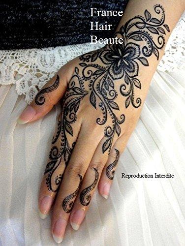 TATOUAGE TEMPORAIRE STYLE HENNE NOIR (PROMOTION  Si 2 planches achetées  parmis tous nos tatouages \u003d 2 gratuites