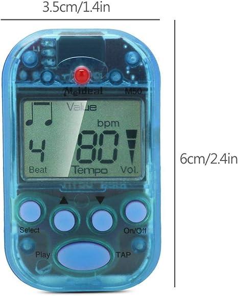 Hinleise Mini Digital LCD Clip on Beat Tempo Metronome Yellow