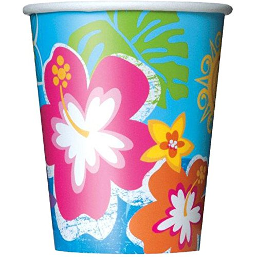Hula Beach Party Supplies 9oz Cups (8 Pack)
