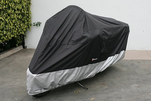 Formosa Covers Deluxe All Season Motorcycle cover (XXL) Black. Fits up to 108