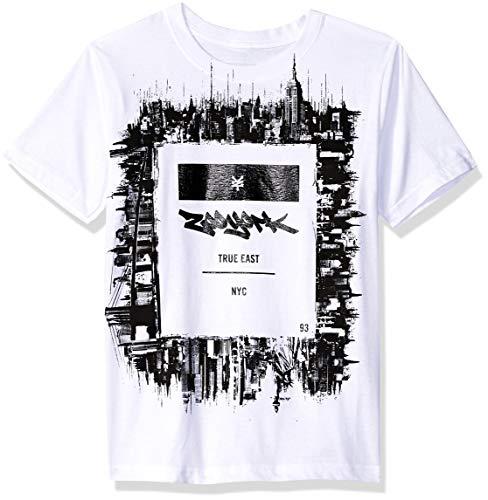 Zoo York Big Boys' Short Sleeve Graphic Tee, White, Large (14/16)