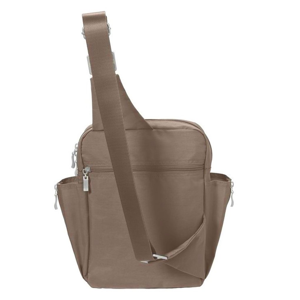 Baggallini Messenger Sling Organizer Shoulder Backpack Bag (Mocha/MES160) by Baggallini (Image #3)