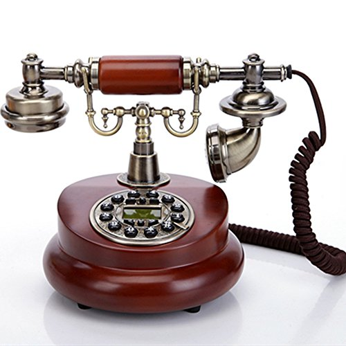 TelPal Classic Vintage Desktop Wired Office Telephone of 1950 Old Fashioned Antique Style Home Phone 1950's Classic Pay Phone