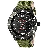 Wenger Men's 01.0851.125 Roadster Black Night Swiss Quartz Green nylon Watch