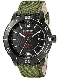 Men's 01.0851.125 Roadster Black Night Swiss Quartz Green nylon Watch
