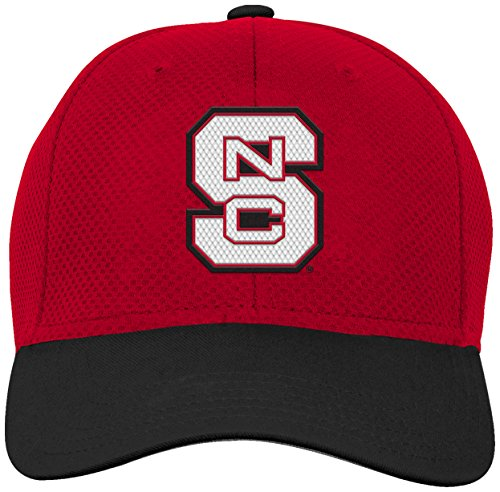 NCAA by Outerstuff NCAA North Carolina State Wolfpack Youth Boys Tech Structured Snap Hat, Red, Youth One Size ()