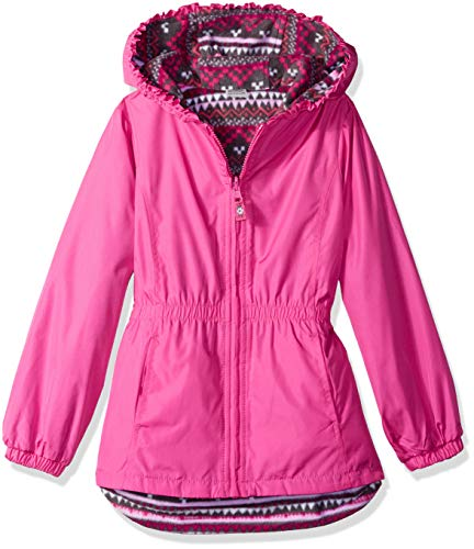 London Fog Girls' Toddler Reversible Jacket, Pink 4T