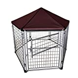 Neocraft My Pet Companion Outdoor Dog Kennel with Included Roof Weather Resistant Cover (4'), Waterproof Winter Welded Wire Pet House Shelter - Ideal for Medium Sized Dog Breed, Easy Assembly
